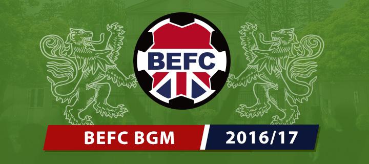 BEFC General Meeting 2017