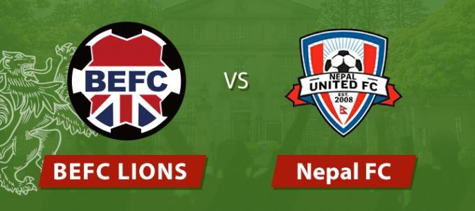 BEFC Lions vs Nepal Utd.