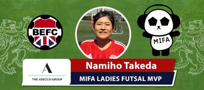 Adecco BEFC MIFA Ladies Futsal MVP - Namiho Takeda