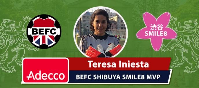 Adecco BEFC MVP Award - Teresa Iniesta