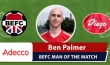 Adecco BEFC Man of the Match Award - Ben Palmer vs El Diego