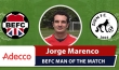 Adecco BEFC Man of the Match Award - Jorge Marenco vs Zion FC