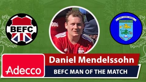 Adecco BEFC Man of the Match Award - Daniel Mendelssohn