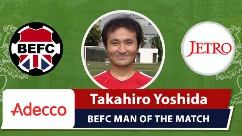 Adecco BEFC Man of the Match Award - Takahiro Yoshida vs JETRO