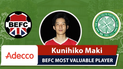Adecco BEFC Most Valuable Player vs Kanto Celts - Kunihiko Maki