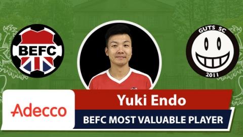 Adecco BEFC Most Valuable Player vs GUTS SC - Yuki Endo