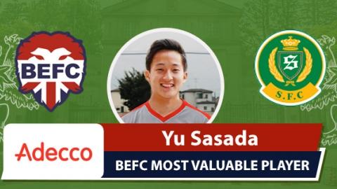 Adecco BEFC Most Valuable Player vs Shane FC - Yu Sasada