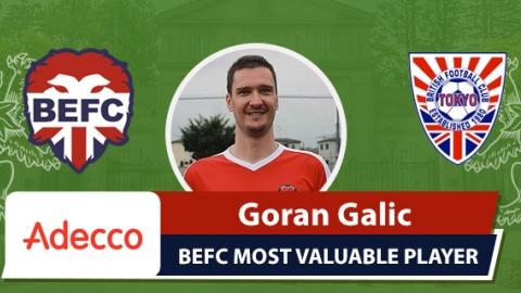 Adecco BEFC Most Valuable Player vsBFC Vagabonds - Goran Galic